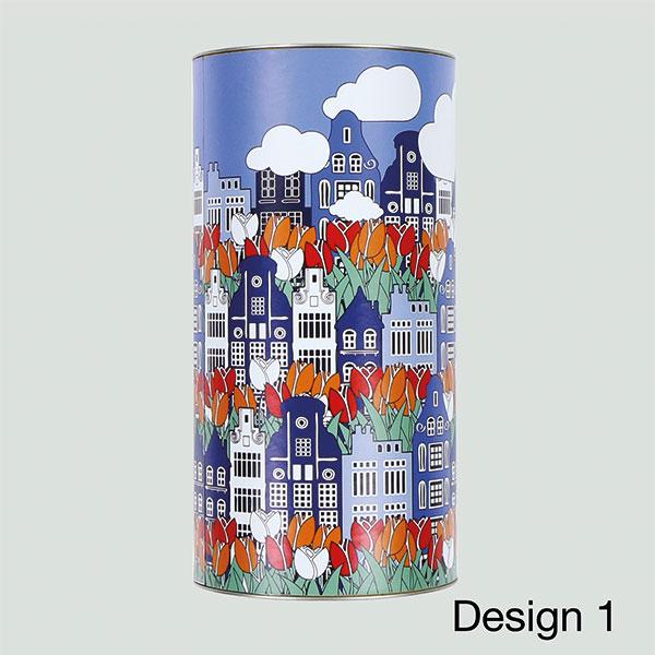 Blumenzwiebelröhre Groß mit Kanalhäusern Design