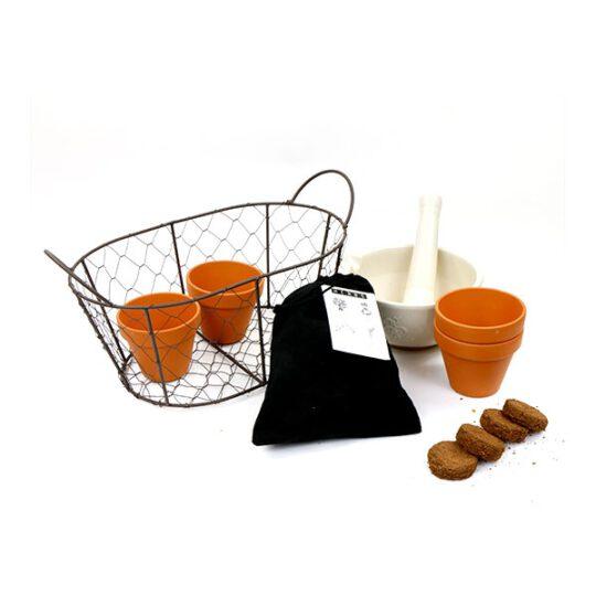 vijzelpakket met keukenkruiden