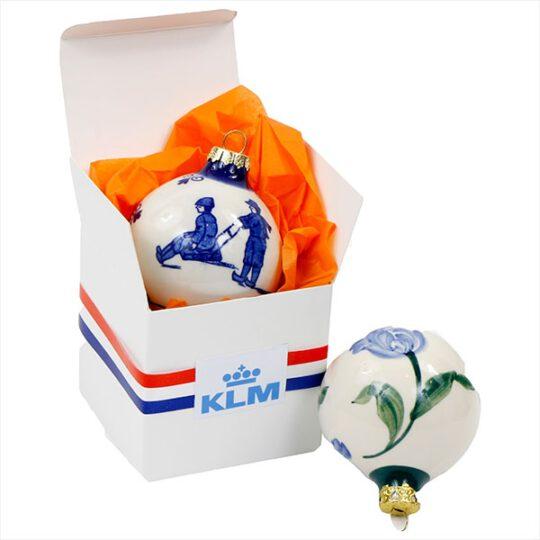 Kerstbal Delfts Blauw