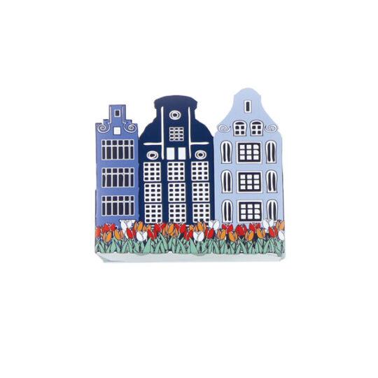 Holland Häuser mit blumenzwiebeln