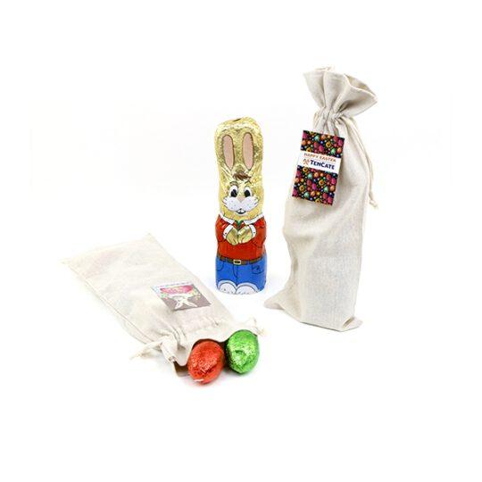 Ambachtelijke Hollandse snoepstokken verpakt in linnen zak met eigen label