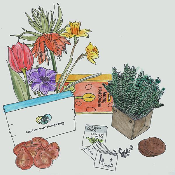brievenbus  kruiden of bloembollen